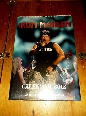 IRON MAIDEN Calendar 2012 (Independent Production) *NEW/SEALED *V.RARE!