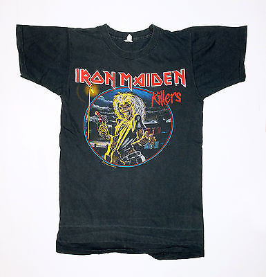 Vintage Original iron Maiden Tour Concert Shirt 1981