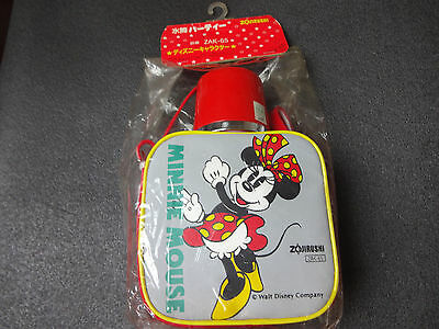 1970s Vintage ZOJIRUSHI Disney MINNIE MOUSE  Water Bottle  Made in JAPAN
