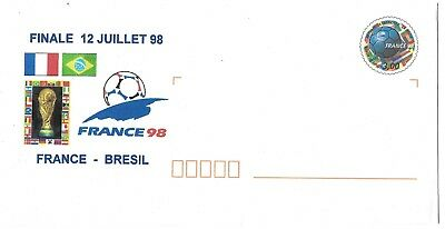 FIFA 1998 WORLD CUP FINAL OFFICIAL POSTAL COVER - FRANCE v BRAZIL / BRESIL