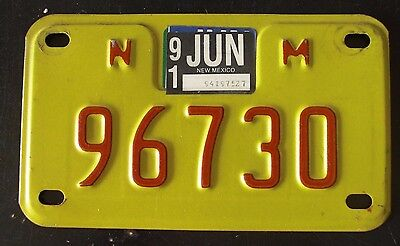 1991 New Mexico Motorcycle License Plate - 96730