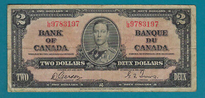 1937 Bank Of Canada $2 Bank Note...Buy It Now!!