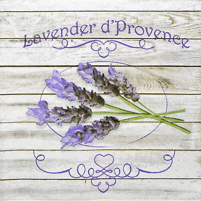 4x Paper Napkins - Lavender d' Provance- for Party, Decoupage Craft