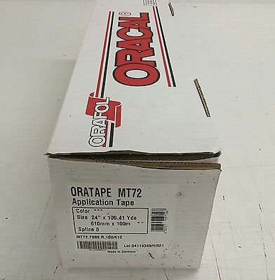 Oracal Orator MT72 application tape, 610mm x 100m