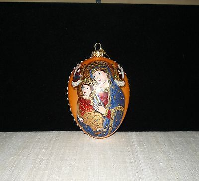 Edward Bar limited Handmade ornament; MADONNA AND CHILD made in Poland