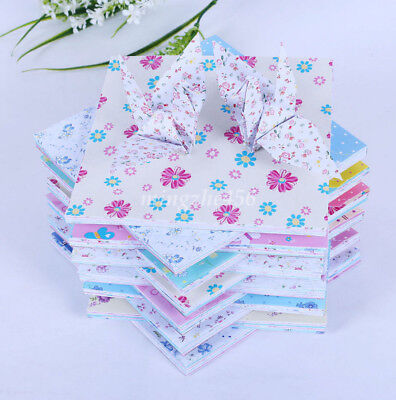"72pcs Origami Crane Folding Rose Paper Floral Mixed Patterns 15cm (5.9"") Square"
