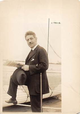 Violinist FRITZ KREISLER vintage c.1918 photo on shipboard