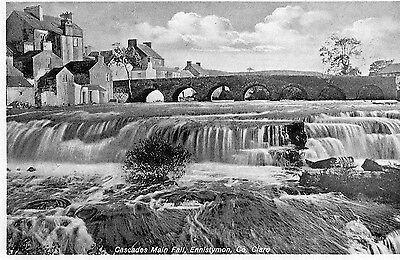 CASCADES MAIN FALL ENNISTYMON CLARE IRELAND by JOHN O'LEARY STATIONER SENT 1936