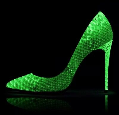 cheap for discount fd56c 3af95 AUTHENTIC CHRISTIAN LOUBOUTIN Pigalle Follies Python Glow in Dark Pumps Sz  40