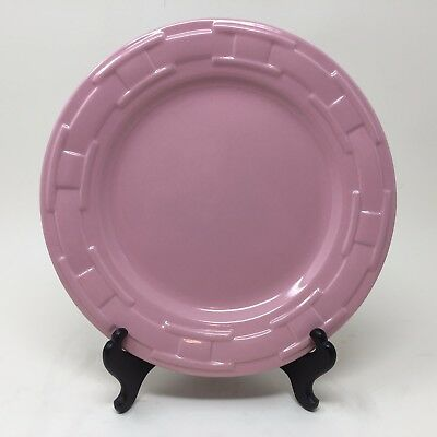 "Rare Pink Longaberger Woven Traditions Pottery 9"" Luncheon Plate 710004"