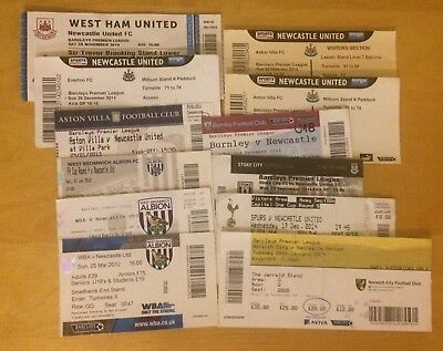 Selection Of Newcastle United Ticket Stubs 2010-2014