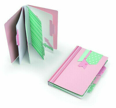 Sizzix Mini Album 663629 Journal Phrases 663484  Book Closures 663480 Noted