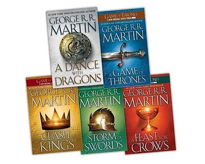 EBOOK George R Martin's Game of Thrones (Song of Ice and Fire) complete 1-5 set