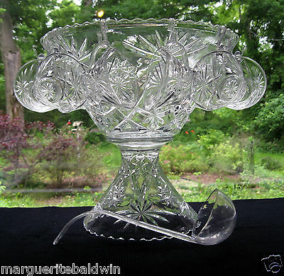 Anchor Hocking Glass Clear Prescut 27 piece Punch Bowl Set with Stand