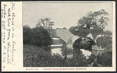 Co TYRONE - BENBURB - BRIDGE OVER THE BLACKWATER - VINTAGE PCARD POSTED 1905
