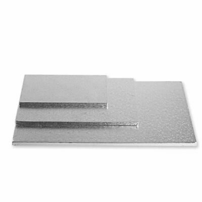 "Cake Board Silver 14 x 16 "" 5/Pk  Rectangle Masonite MDF 5MM Thickness Brand New"