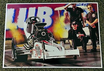 NEW KENNY YOUNGBLOOD SIGNED High Speed Motorsports Top Fuel Dragster FLAME PRINT