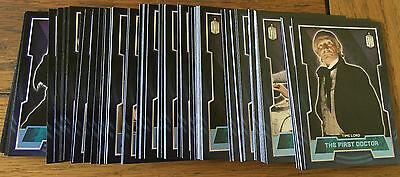 Doctor Who 2015 by Topps Lot of 101 Blue Parallel Cards Numbered xxx/199