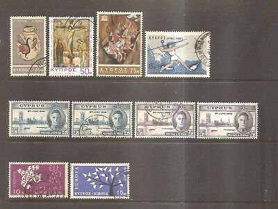 British Commonwealth - Older Stamps From Cyprus.