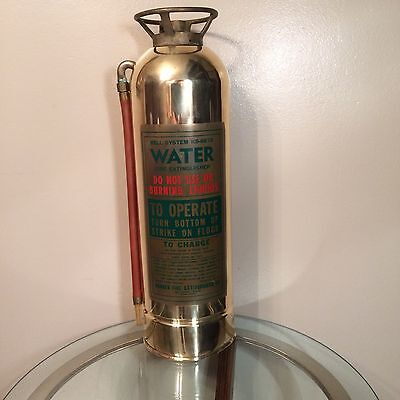 ANTIQUE Brass & Copper FIRE EXTINGUISHER for BELL SYSTEMS Collectors item