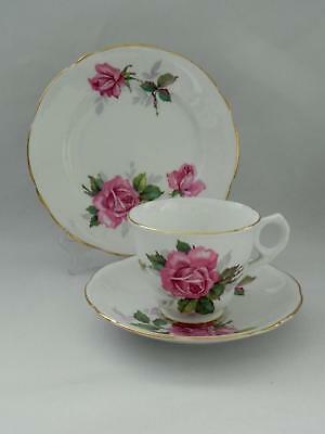 ROYAL STAFFORD *Pink Roses* TRIO - Cup/Saucer / Side Plate - Excellent