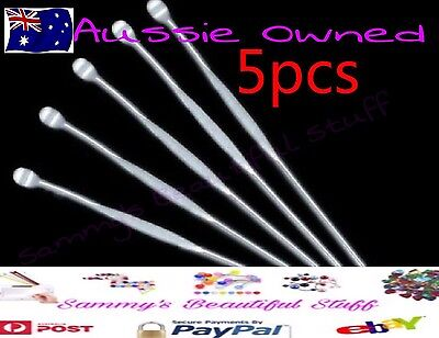 5x stainles Steel Ear Wax Removal Cleaner Tool Scoop Pick Remover Curette Health