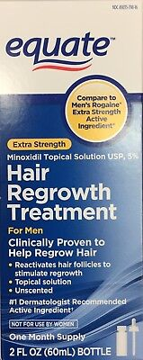 Equate Men's Hair Regrowth Topical Solution 5% Minoxidil. 2oz(60ml) -NEW-