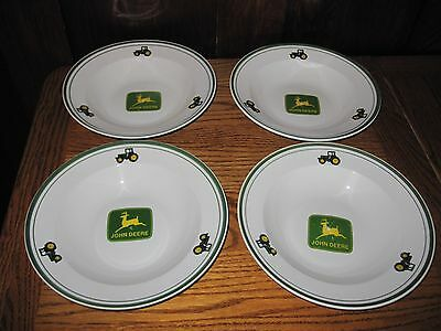 "FOUR John Deere by Gibson 9"" Soup / Salad Bowls"