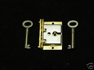 Lock Half Mortise With 2 Keys for Chest Box Drawer and Door