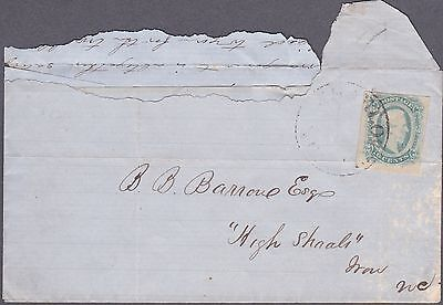 Confederate Necessity Cover Made From Turned Letter