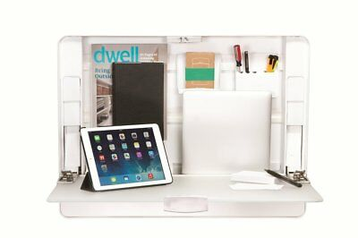 ErgotronHome Workspace Wall Mounted, Height-Adjustable Standing Desk & Organizer