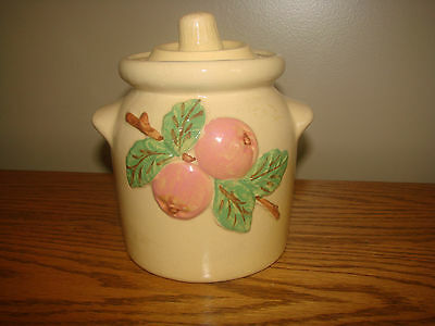 Vintage ROSEVILLE Pottery Apple CANISTER Cookie Robinson Ransbottom Stoneware