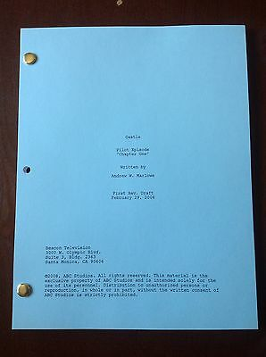 CASTLE TV SHOW Script Pilot Episode, 65 Pages & Entertainment Weekly 3/25/11 NEW
