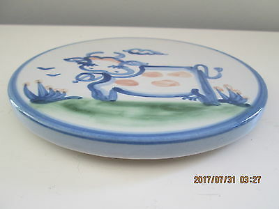 M.A. Hadley Pottery COW Hanging Wall Trivet 6.5