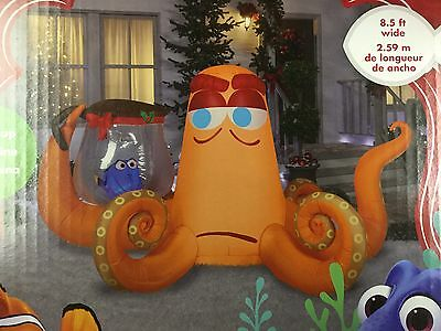 Gemmy 8.5' Disney Hank and Dory blow up Christmas inflatable