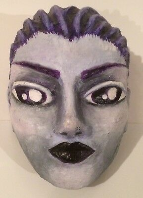 Tree Nymph Paper Mache Art Mask Dryad Oread Hand Painted Head Anime Face Nude