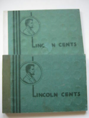 Lot of Forty (151) Different Lincoln Cents in Two Vintage Wayte Raymond Albums