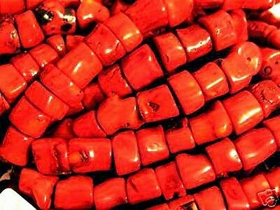 Red Coral beads ready for stringing 20 bead lot 1/2-7/8 inch 20 beads