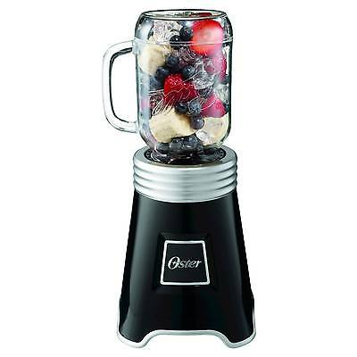 New Oster Mason Jar Blender Black/Silver, Blstp‑Ball‑BK