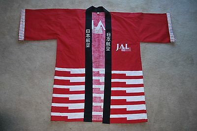 Japanese Airlines Jal Kimono Never Used Polka Dots / Red White Stripes