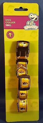 Peanuts Snoopy Dog Collar Small Yellow Brand New on Card