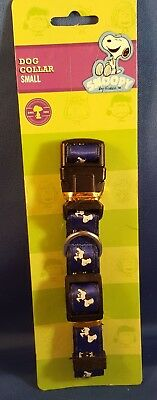 Peanuts Snoopy Dog Collar Small Blue Brand New on Card