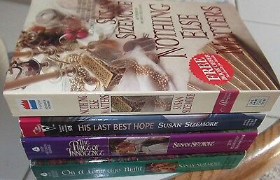 Lot Of 4 Susan Sizemore  Historical & Contemporary Romance Books