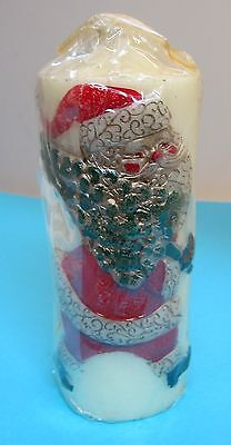 Mid Century Christmas Candle Santa Walking w Christmas Tree 3D Very Detailed T13