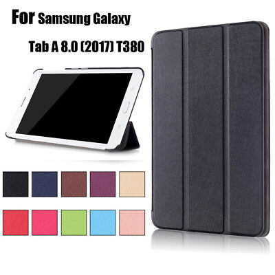 NEW Folding Leather Stand Cover Case For Samsung Galaxy Tab A 8.0 (2017) T380