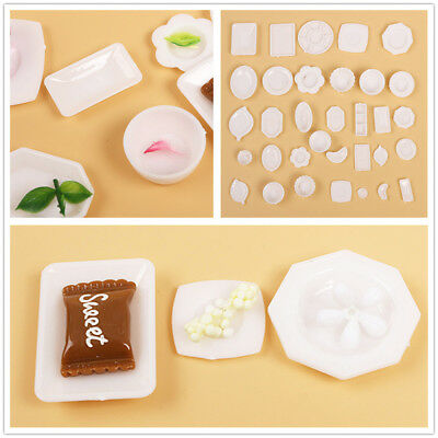 33pcs/lot Doll Accessory Kitchen Mini Tableware Miniatures Cup Plate Decor Toy