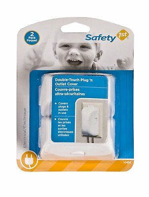 SAFETY 1ST/DOREL 2-Pack White Child Safety Outlet Cover