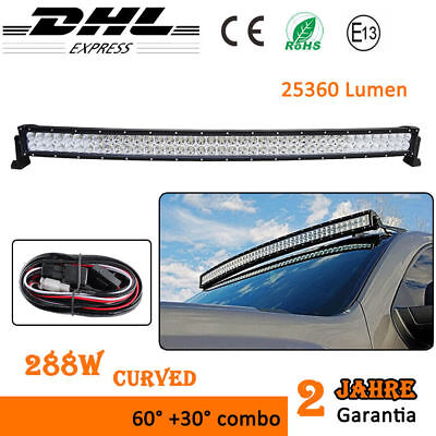 "50"" 52"" Curved 288W LED Light Bar Scheinwerfer Off-road Lichtleiste SUV ATV 12V"