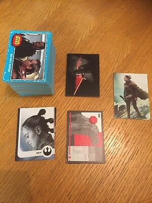 Topps Journey To The Last Jedi Trading Cards - Blue Base Set Plus Inserts