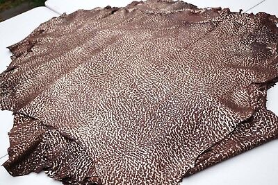 Brown Gold Fashion Italian lambskin garment leather hides Lamb/Sheepskin
